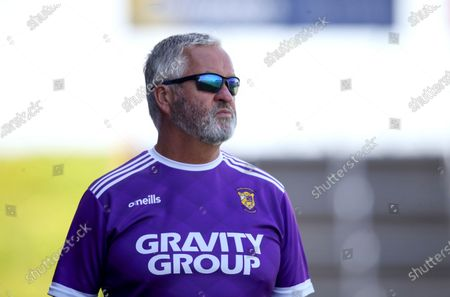 Stock Picture of Faythe Harriers vs Shelmaliers. Faythe Harriers manager Tony Walsh