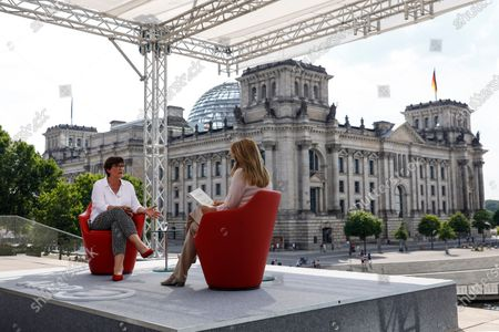 Editorial image of Co-chairwoman of the Social Democratic Party Saskia Esken attends summer interview, Berlin, Germany - 09 Aug 2020