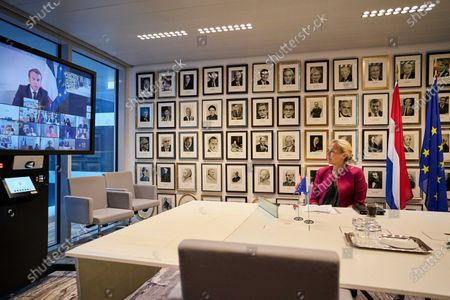 Editorial photo of Dutch Minister Kaag participates donor tele-conference concerning Lebanon situation, Den Haag, Netherlands - 09 Aug 2020