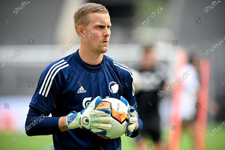 Copenhagen's goalkeeper Karl-Johan Johnsson attends his team's training session in Cologne, Germany, 09 August 2020. Manchester United and FC Copenhagen will play a UEFA Europa League quarter final soccer match on 10 August in Cologne.