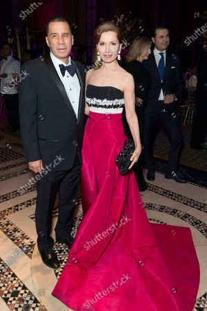 David Patterson, Jean Shafiroff wearing dress by Carolina Herrera attend Endometriosis Foundation of America 9th Annual Blossom Ball at Cipriani 42nd street