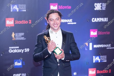 Stock Photo of Jonas Carpignano, winner of the David di Donatello for best direction