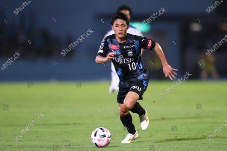 Ryota Oshima (Frontale) - Football / Soccer : 2020 J1 League match between  Kawasaki Frontale 2-0 Oita Trinita  at Kawasaki Todoroki Stadium, Kanagawa, Japan.