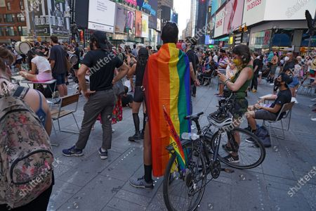 Protesters gather at Times Square to march uptown via the Henry Hudson Parkway during the Black lives matter protest. Protesters took to the streets to demand the arrest of an officer responsible for the death of Breonna Taylor on March 13, 2020 in Louisville, Kentucky.