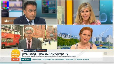 Adil Ray, Kate Garraway, Simon Calder and Dr. Sarah Jarvis