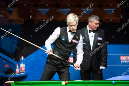 Editorial photo of Exclusive - Betfred World Snooker Championship, Day Eleven, Crucible Theatre, Sheffield, UK - 10 Aug 2020