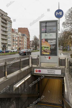 Editorial image of Belgium Brussels Region Metro Station Illustration, Brussels, Belgium - 04 Feb 2019