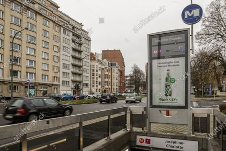 Stock Photo of Illustration picture shows Metrostation Metro Staion Josephine-Charlotte, of the STIB-MIVB Monday 04 February 2019, in Brussels.