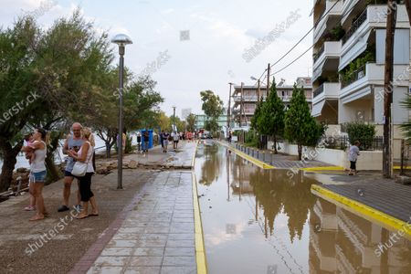 Editorial picture of Floods on the island of Euboea, Greece, Pournos - 09 Aug 2020