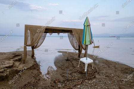 Stock Picture of During Storm Thalia, heavy rains hit the island of Euboea, north of Athens, hard. At least seven people have died and property damage is very high, all of the bridges on the Lilac River having been destroyed, cutting the island in two.
