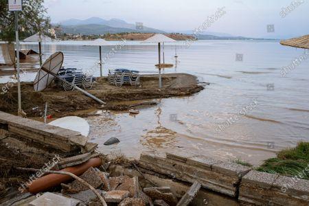 Editorial photo of Floods on the island of Euboea, Greece, Pournos - 09 Aug 2020