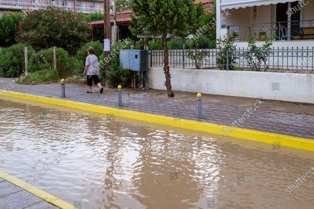 Editorial image of Floods on the island of Euboea, Greece, Pournos - 09 Aug 2020