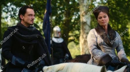 Stock Photo of Sebastian Armesto as King Uther Pendragon and Polly Walker as Lady Lunete