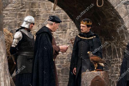 Stock Picture of Jasper Jacob as Sir Borley and Sebastian Armesto as King Uther Pendragon