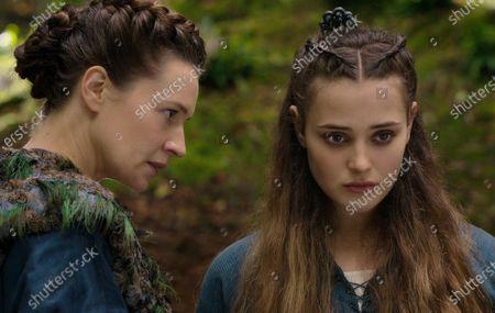 Catherine Walker as Lenore and Katherine Langford as Nimue