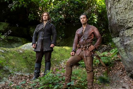 Stock Image of Matt Stokoe as Gawain and Devon Terrell as Arthur