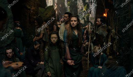 Eiry Shi as Snake Girl, Devon Terrell as Arthur and Catherine Walker as Lenore