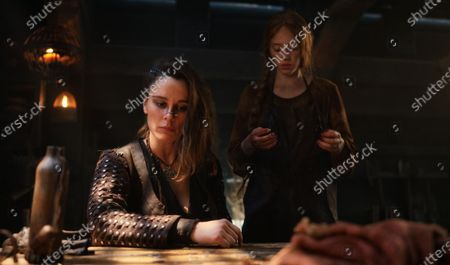 Stock Image of Bella Dayne as Red Spear and Lily Newmark as Pym