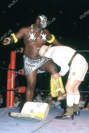 Editorial picture of Wrestler James Harris aka Kamala - 1980s
