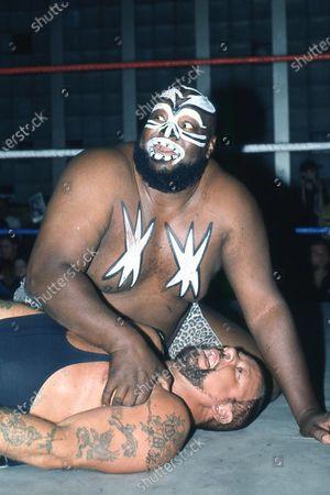 Editorial image of Wrestler James Harris aka Kamala - 1980s