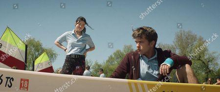Stock Photo of Piper Curda as Mallory and John-Paul Howard as Ben