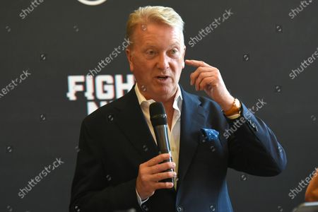 Stock Picture of Frank Warren during a Press Conference at the Council Chamber, Bethnal Green on 10th August 2020