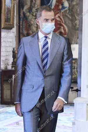 Stock Photo of King Felipe VI during an audience at Almudaina palace
