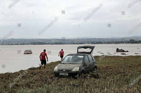 Stock Picture of Aftermath of the severe flooding in the village of Bourtzi, Euboea island