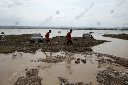 Editorial photo of Sludge and debris from the floods on the island of Euboea, Oropos, Greece - 10 Aug 2020