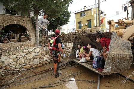 Editorial image of Sludge and debris from the floods on the island of Euboea, Oropos, Greece - 10 Aug 2020