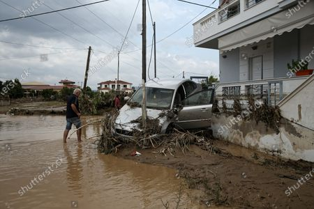 Editorial picture of Sludge and debris from the floods on the island of Euboea, Oropos, Greece - 10 Aug 2020