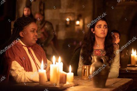 Lolly Adefope as Maggie and Geraldine Viswanathan as Alexandra Shitshoveler