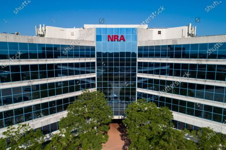 An image made with a drone shows the headquarters of the NRA (National Rifle Association) in Fairfax, Virginia, USA, 10 August, 2020. On 05 August, New York Attorney General Letitia James announced she is suing to dissolve the gun-rights organization, alleging rampant financial fraud by its leadership, including Chief Executive Wayne LaPierre.