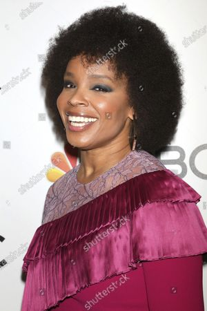 Stock Image of Amber Ruffin attends the NBC midseason 2020 press day party in New York on Jan. 23, 2020. Peacock is launching a pair of weekly late-night comedy series with Larry Wilmore and Ruffin