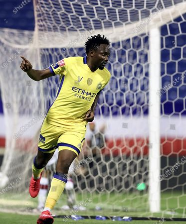 Stock Picture of Al-Nassr's Ahmed Musa celebrates after scoring a goal during the Saudi Professional League soccer match between Abha and Al-Nassr, Abha, Saudi Arabia, 10 August 2020.