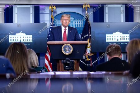 Editorial picture of President Trump Holds a News Conference, Washington, District of Columbia, USA - 10 Aug 2020