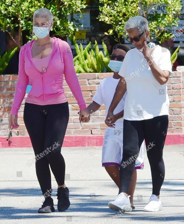 Amber Rose, son Sebastian Taylor Thomaz and mother Dorothy Rose