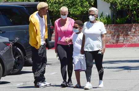 Stock Image of Alexander Edwards, Amber Rose, son Sebastian Taylor Thomaz and mother Dorothy Rose