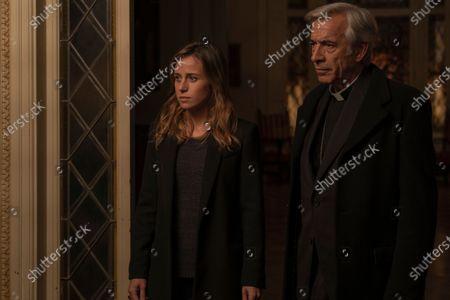 Marta Etura as Amaia Salazar and Imanol Arias as Padre Sarasola