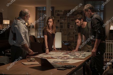 Stock Picture of Francesc Orella as Fermin Montes, Marta Etura as Amaia Salazar, Eduardo Rosa as Subinspector Goni and Alfredo Villa as Inspector Clemos