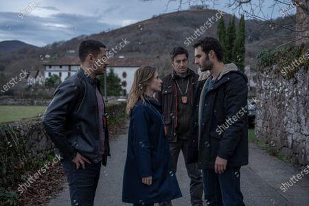 Stock Photo of Nene as Jonan Etxaide, Marta Etura as Amaia Salazar, Paco Tous as Dr. San Martín and Eduardo Rosa as Subinspector Goni