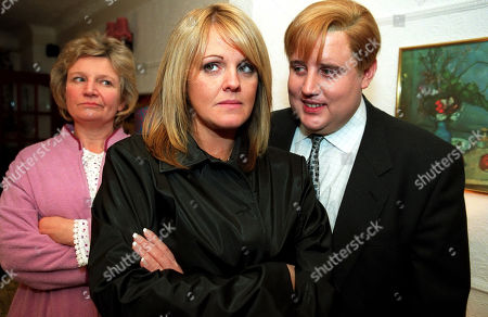 Ep 5680 Friday 30th January 2004  Shelley Unwin, as played by Sally Lindsay, gets a shock when she goes back to Eric Gartside's, as played by Peter Kay, house. She discovers he still lives with his overbearing mother Dolly Gartside, as played by Janice Connolly.