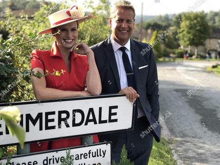 ITV Racing at the Welcome to Yorkshire Ebor Festival 2020 (Wednesday 19 August to Saturday 22 August) - Pictured: Ed Chamberlin and Francesca Cumani.
