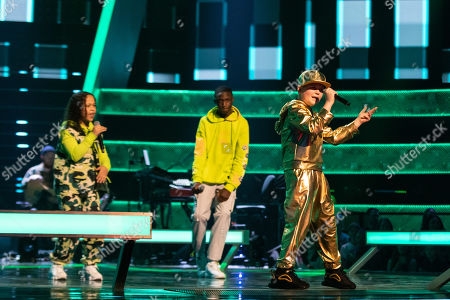 Stock Image of Battles: Team Will: Ray-Tee, Thalia and Amos perform.