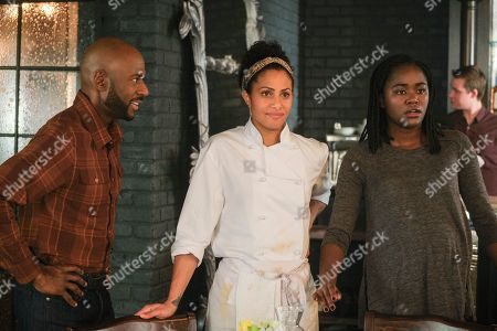 Romany Malco as Rome Howard, Christina Moses as Regina Howard and Ebboney Wilson as Eve