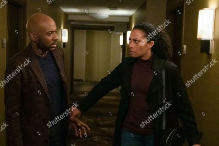 Stock Image of Romany Malco as Rome Howard and Christina Moses as Regina Howard