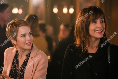 Stock Picture of Allison Miller as Maggie Bloom and Stephanie Szostak as Delilah Dixon