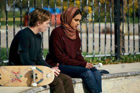 Jack Kilmer as Jesse/Hala's boyfriend and Geraldine Viswanathan as Hala Masood