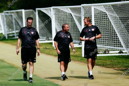 Andy Rolls, New assistant Head Coach Paul Simpson and New Head Coach Dean Holden as Bristol City return for pre-season training ahead of the 2020/21 season