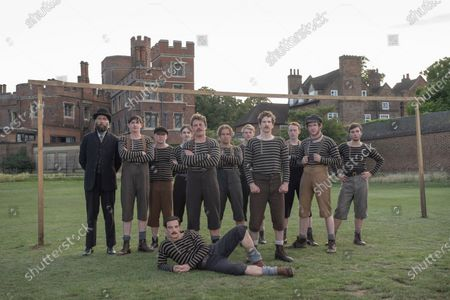 Stock Photo of Craig Parkinson as James Walsh, James Harkness as Jimmy Love, Kevin Guthrie as Fergus Suter and Joncie Elmore as Ted Stokes